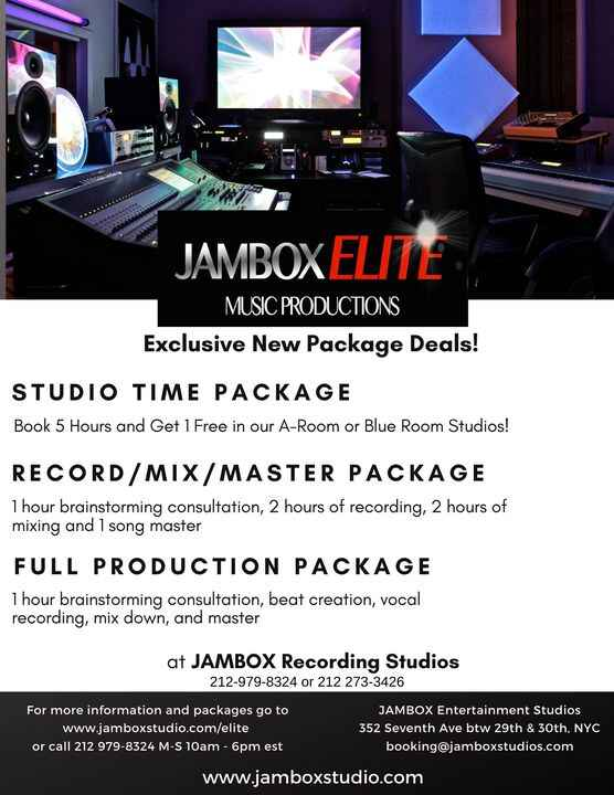 JAMBOX Elite Music Services… Exclusive Package Deals New Music Service packages to give your projects the boost that the...