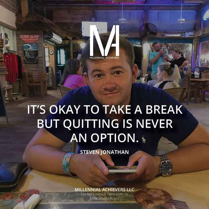 You deserve a break every now and then, but quitting is never even on the table! 💪-#neverquit #vacationvibes #millennial...