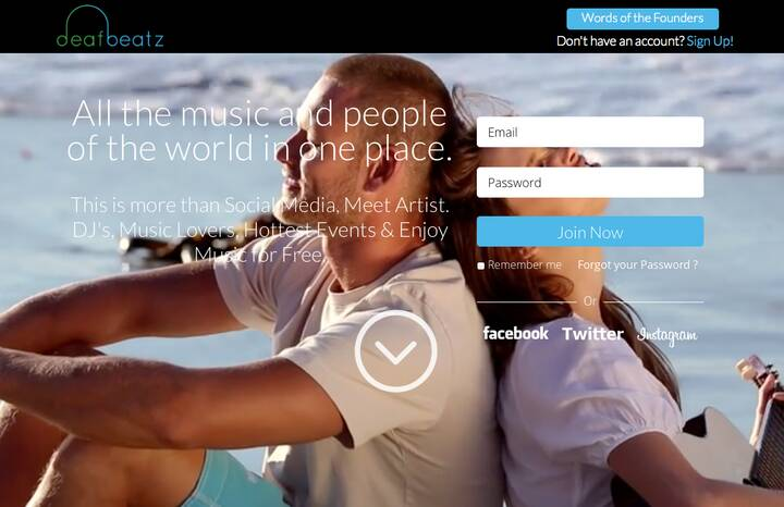 PRESS RELEASE New York City, NY (October 20, 2015)deafbeatz: The All-in-One Music PlatformJust as Facebook, Twitter, et...