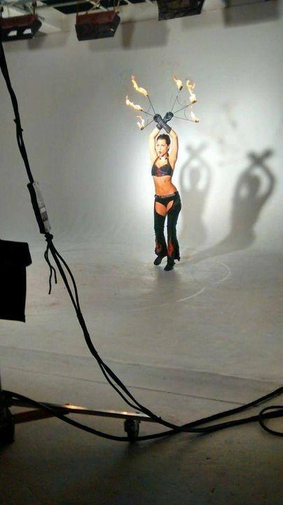 Evgenia fire dance. No prompter.