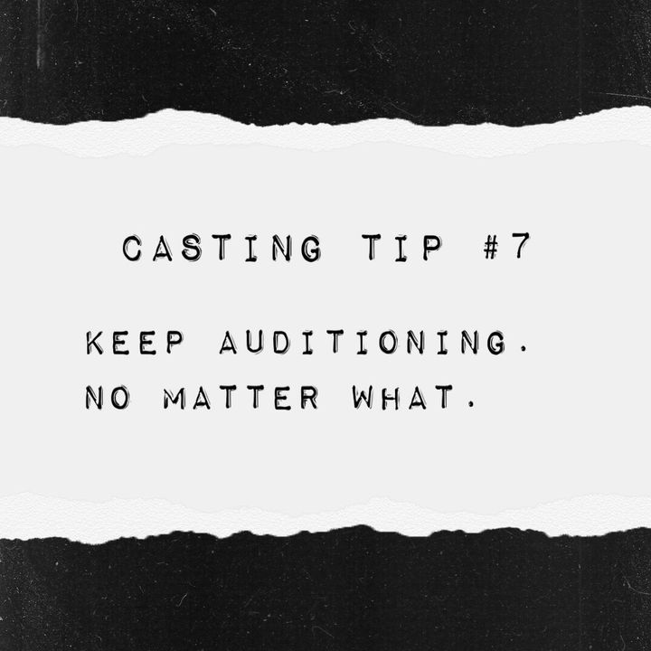 """Every actor is bound to face rejection. You might even hit a point where you feel like all you are hearing is """"no."""" But ..."""