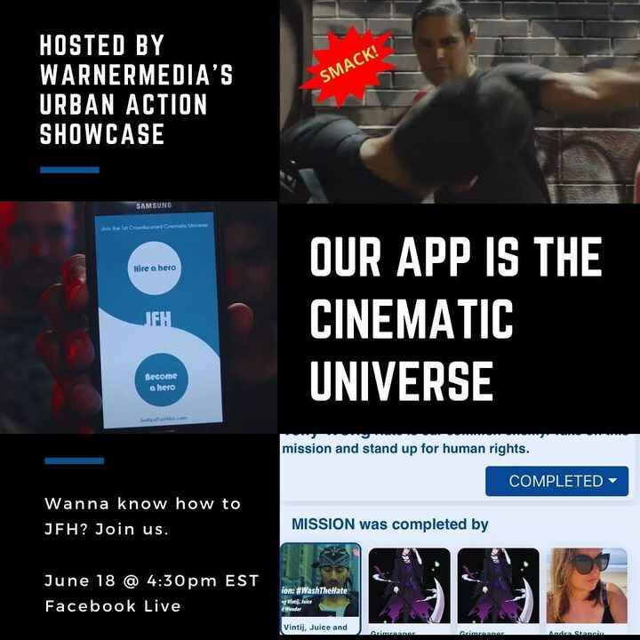 The vision is REAL. Our @justiceforhire app is a Cinematic Universe 📲🚀🌌. Join us for a demo of how-to JFH this Friday, 4...