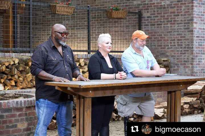#Repost @bigmoecason ・・・BBQ BEATDOWN on @foodnetwork premiering Sunday sept 1st 1pm also on September 4th on @cookingcha...