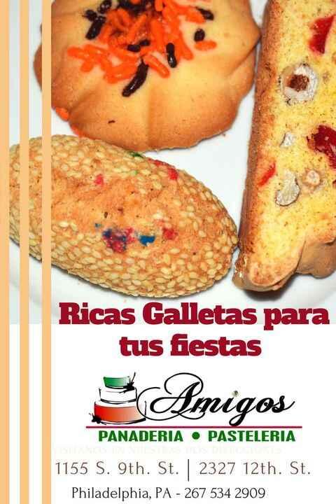 Amigos Panaderia y Pasteria en el sur de Philly   Visitalos en sus dos Locaciones   Galletas, Pasteles, Pan y mucho mas....