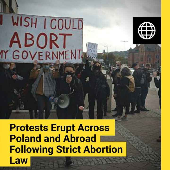 Following the new court ruling on abortion, thousands of people in #Poland have taken to the streets in protest. The rul...