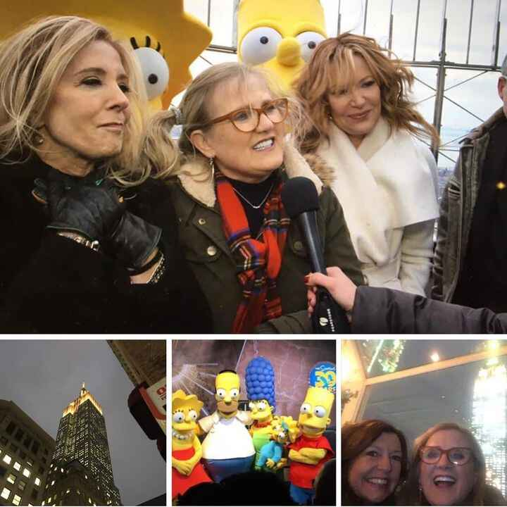 Came up in memories - great shoot at the top of the Empire State Building w THE SIMPSONS!!! 30th anniversary @thesimpson...