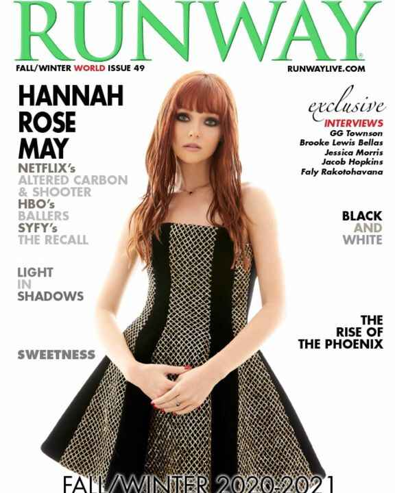 RUNWAY the magazine is available everywhere NOW. Cover girl Hannah Rose May from Netflix Altered Carbon, HBO's Ballers p...