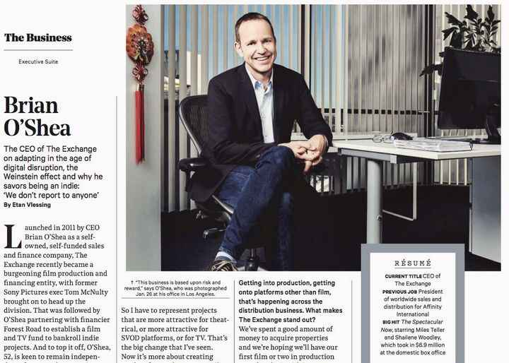 Brian O'Shea of #theexchange for @hollywoodreporter Producer @carriecs Photo Editor @jaredsimple Groomer @taytomp Magici...