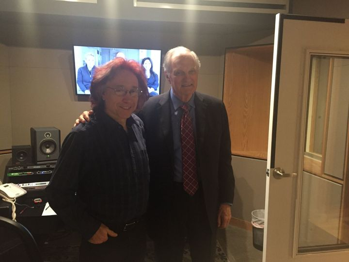 Working with Alan Alda today.