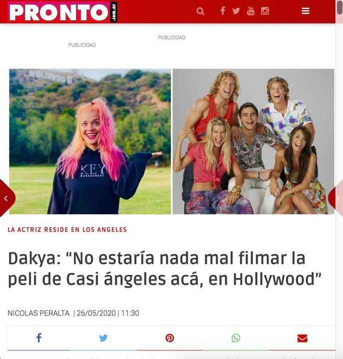 Our client Daniela Aita wearing our hoodie and interviewing for Pronto.