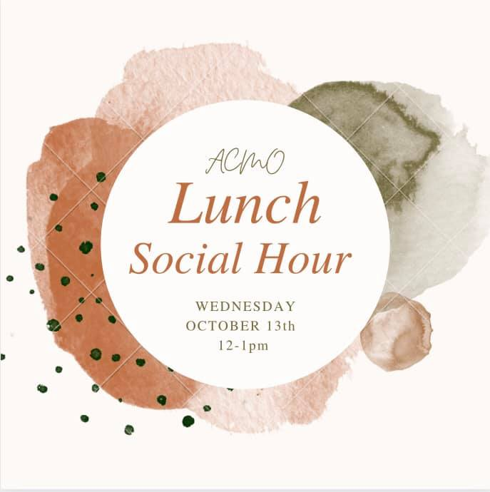 Missed the last one? That's ok! Join us today for another one of our lunch social hours! We will be meeting in the Galle...