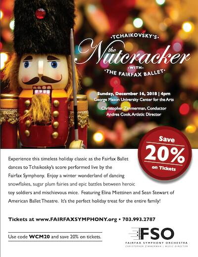 Anyone going to see the Nutcracker show presented by the Fairfax Symphony Orchestra? Don't miss the 20% off if you use c...