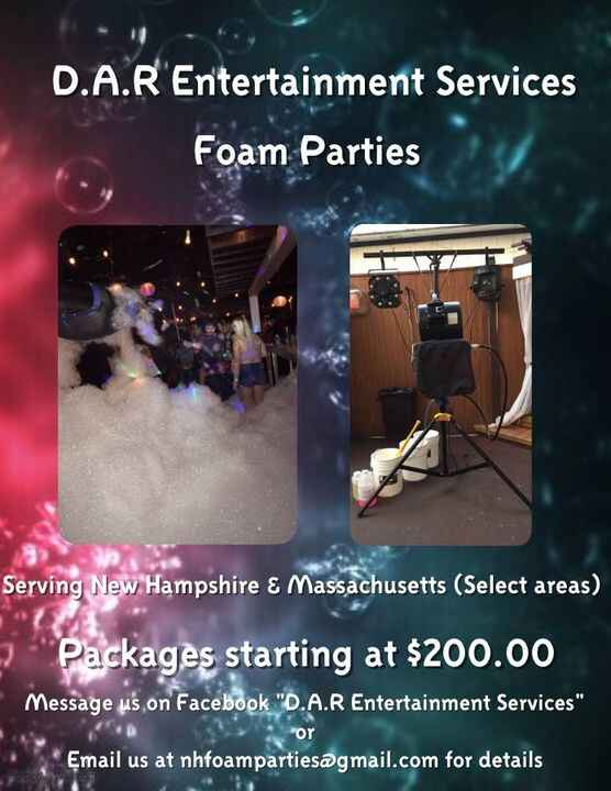 We are proud to introduce our newest addition to our company, Foam parties! Serving New Hampshire and Massachusetts (Sel...