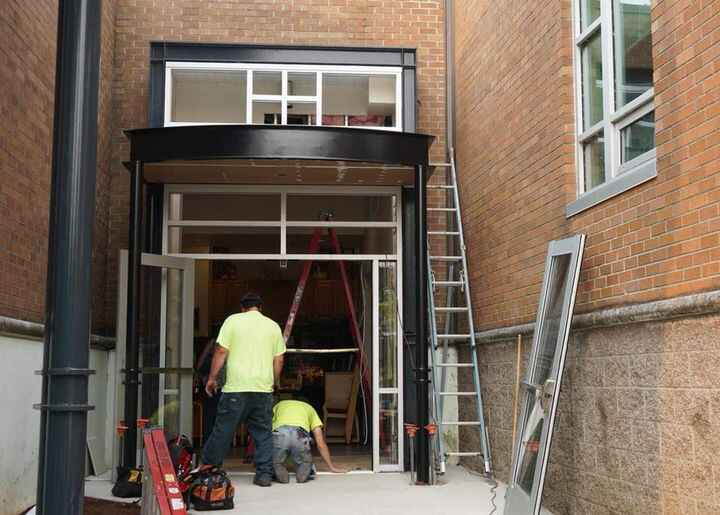 Notice anything different? A new entryway has been constructed to improve school safety.https://wlhsnow.com/current-even...